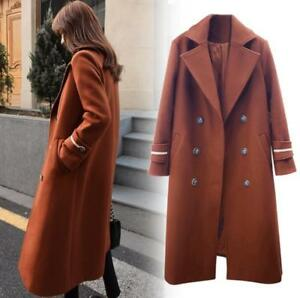 Lange Trench Uld Double Slim Blend Overcoat New Fit Lapel Breasted Kvinder Jacket 1TwdqB1