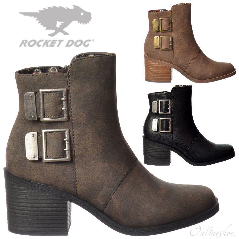 Damen Mädchen Rocket Dog Dundee Grau Stiefeletten Niedriger Absatz Schwarz Grau Dundee 0d526d