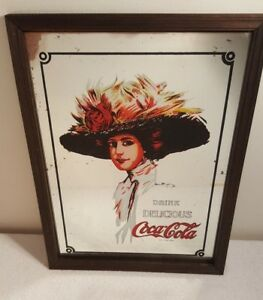 BRAND NEW Coca-Cola Delicious and Refreshing Mirror in Frame Sign