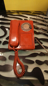 Northern Telecom Doodle Phone Telephone Orange Good Shape Untested Rare Rotary