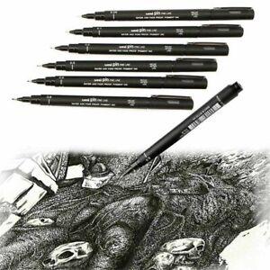 New-Pro-Uni-Pin-Drawing-Pen-Fine-Line-005-01-02-03-05-08-Needle-Pen-Easy-t-W3O9