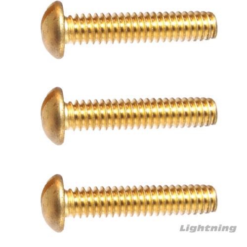 "4-40 x 5//8/"" Round Head Machine Screws Solid Brass Slotted Drive Qty 1000"