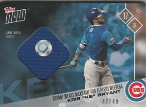 best service 4ff41 da6b2 Details about Kris Bryant KB CHICAGO CUBS TOPPS NOW PLAYERS WEEKEND BLUE  JERSEY 47/49 PWR-1C