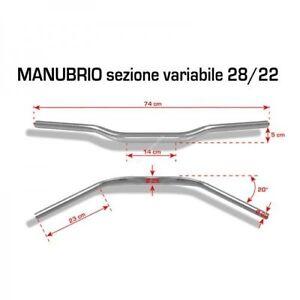 BARRACUDA-MANUBRIO-DIAMETRO-28-22-SILVER-MOTO-ERGAL-PIEGA-BASSA-NAKED-HANDLEBAR