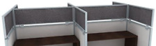 12 Acoustical Cubicle Mounted Privacy Panel With Large Brackets