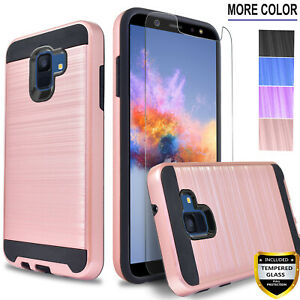 For-Samsung-Galaxy-A6-J4-Plus-J2-Core-Shine-Pure-Case-Tempered-Glass-Protector