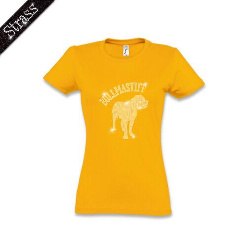chien femmeimage Bullmastiff Strass strass en coton pour M1 WDI9eEH2Y