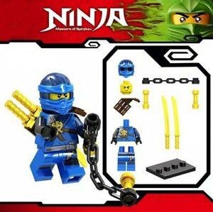 Neue-Ninjago-blauer-Ninja-Jay-Spinjitzu-Custom-Lego-Mini-Figur-Lloyd-Kai-Armee-Spielzeug