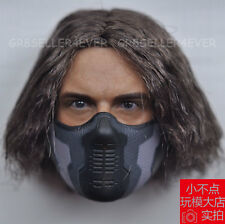 custom 1/6 scale Head Sculpt Sebastian Stan Winter Soldier Bucky Barnes and MasK