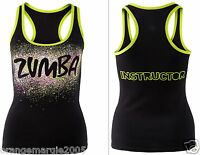 Zumba Fitness Dance Instructor Racerback Top Shirt Tank Tee -fr.convention Rare