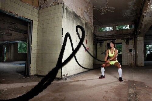 "1.5/""x 75/' Noir polydac Workout Training Fitness Combat Exercice Vitesse Corde"