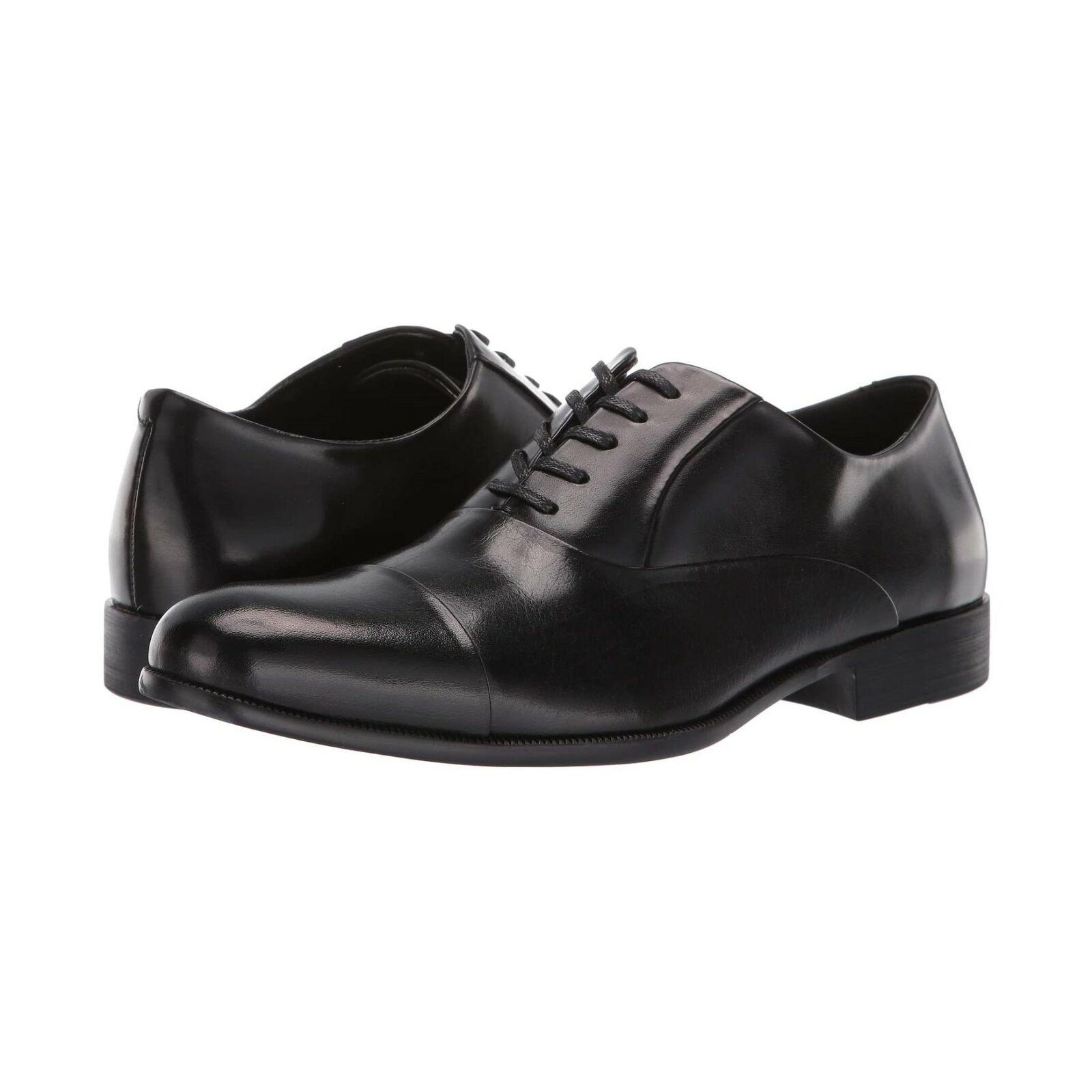 Kenneth Cole Men Cap Toe Dress Oxfords Chief Council Size US 11M Black Leather