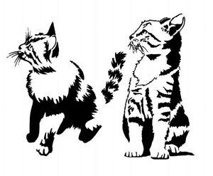 A4 Mylar Stencils Crafts Templates Scrapbooking CAT STENCIL 2b