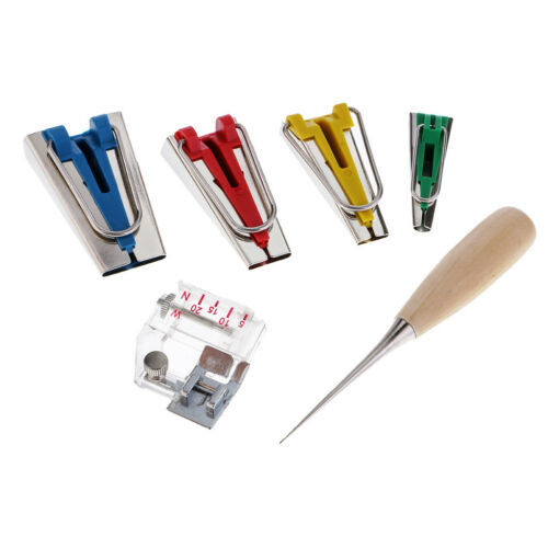 6PCS Schrägbandformer Set Schrägband Werkzeug in 6-12-18-25 mm Tape Bias