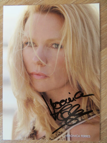 Handsignierte AK Autogrammkarte *VERONICA FERRES* Deutsche Schauspielerin #1