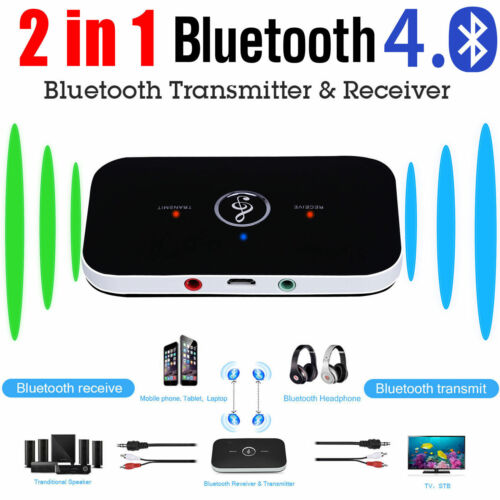 Audio Wireless BT Adapter for 2 in1 Portable 3.5mm Headphones TV PC MP3