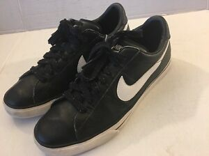 No hagas Misionero rifle  NIKE BRS BLACK CLASSIC LEATHER Sneakers Casual Tennis Shoes MEN'S SIZE 10 |  eBay