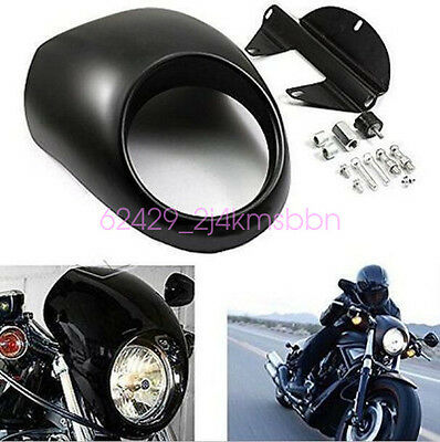 Black Front Headlight Hood Fairing Mask For Harley Davidson Sportster Dyna FX XL