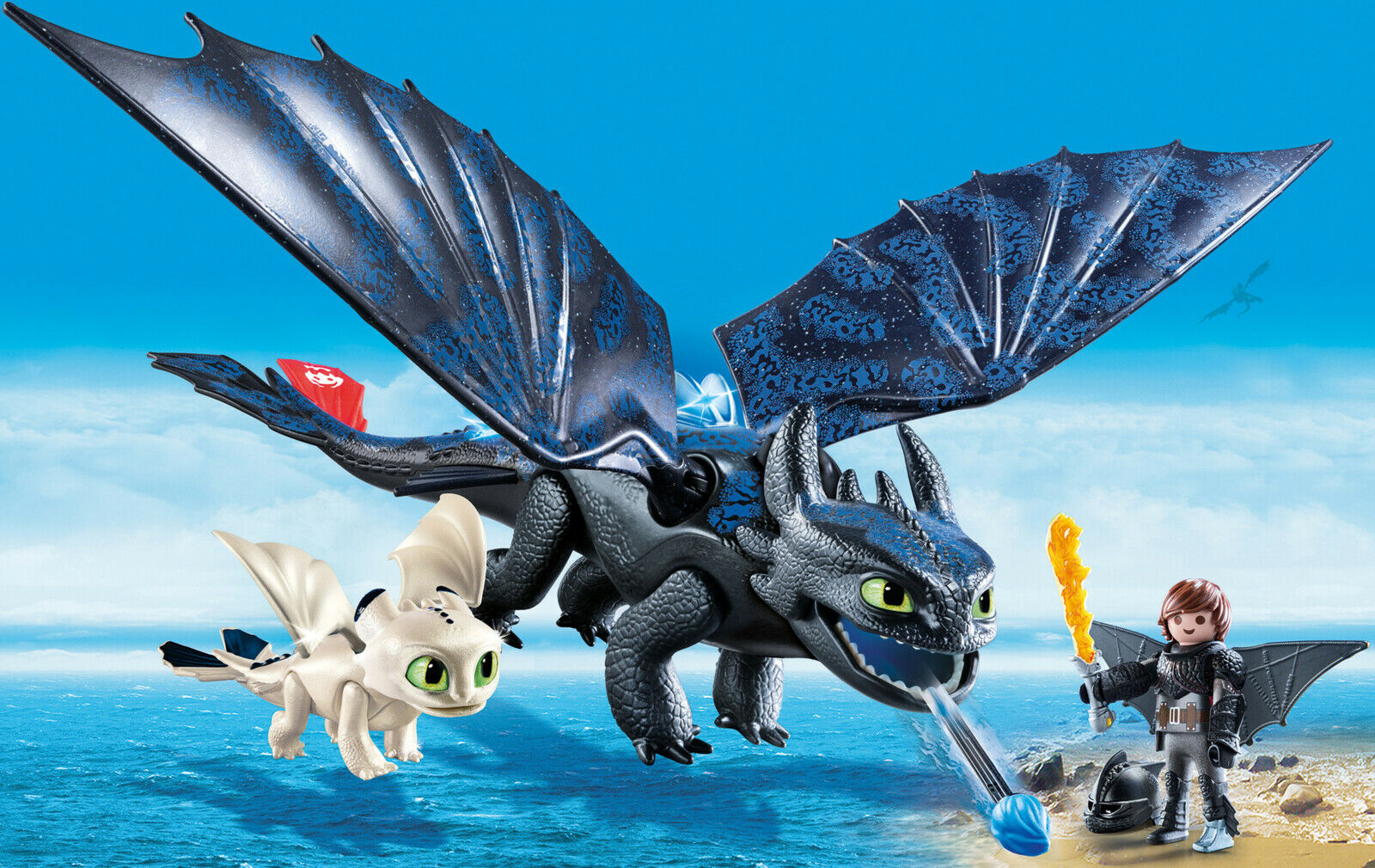 How to Train Your Dragon 3 Hiccup and Toothless with Baby Dragon By PLAYMOBIL