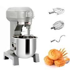 New Three Speed 15qt Commercial Dough Food Mixer Gear Driven Pizza Bakery 580w