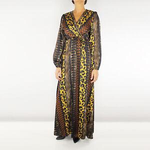 promo code cae1d c7650 Abito Donna Lungo Casual Vestito Elegante Fantasia Animalier ...