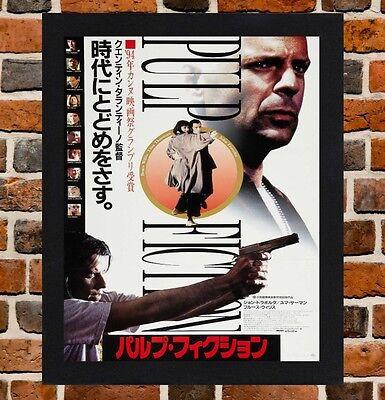Art Pulp Fiction Movie Uma Thurman Vincent Vega Canvas Fabric Poster 1126