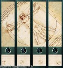 File Art 4x Ordner-Etiketten DA VINCI Ordner RÜCKENSCHILDER Sticker 071
