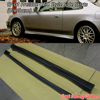 For 97-01 Prelude Side Skirt Extensions Rocker Bottom Line Panels
