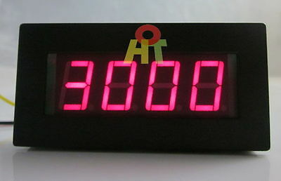 Digital Motor Red LED Tachometer RPM Speed Measure Gauge Meter 5-9999 f Car Auto