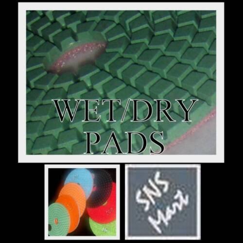 "5/"" Pro WET//DRY Diamond Polishing Pad Set Granite Marble"