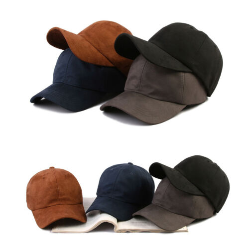 XL ~ 2XL XXL 61 ~ 64 cm pour Homme Blanc Uni En Daim Casquette De Baseball Réglable Trucker Hats