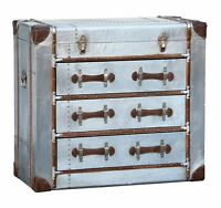 Dusx Industrial Aluminium Steampunk Style Chest Of Drawers W90 X D43.5 X H81 Cm