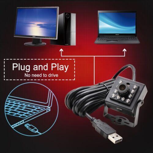 2MP 1080p USB IR LED Nightvision Hidden Mini Box Security Camera 3.6mm Lens