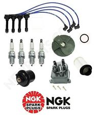 OEM Tune Up Kit Integra B18B1Non-VTec Air&Gas Filters Cap Rotor NGK Wires&Plugs