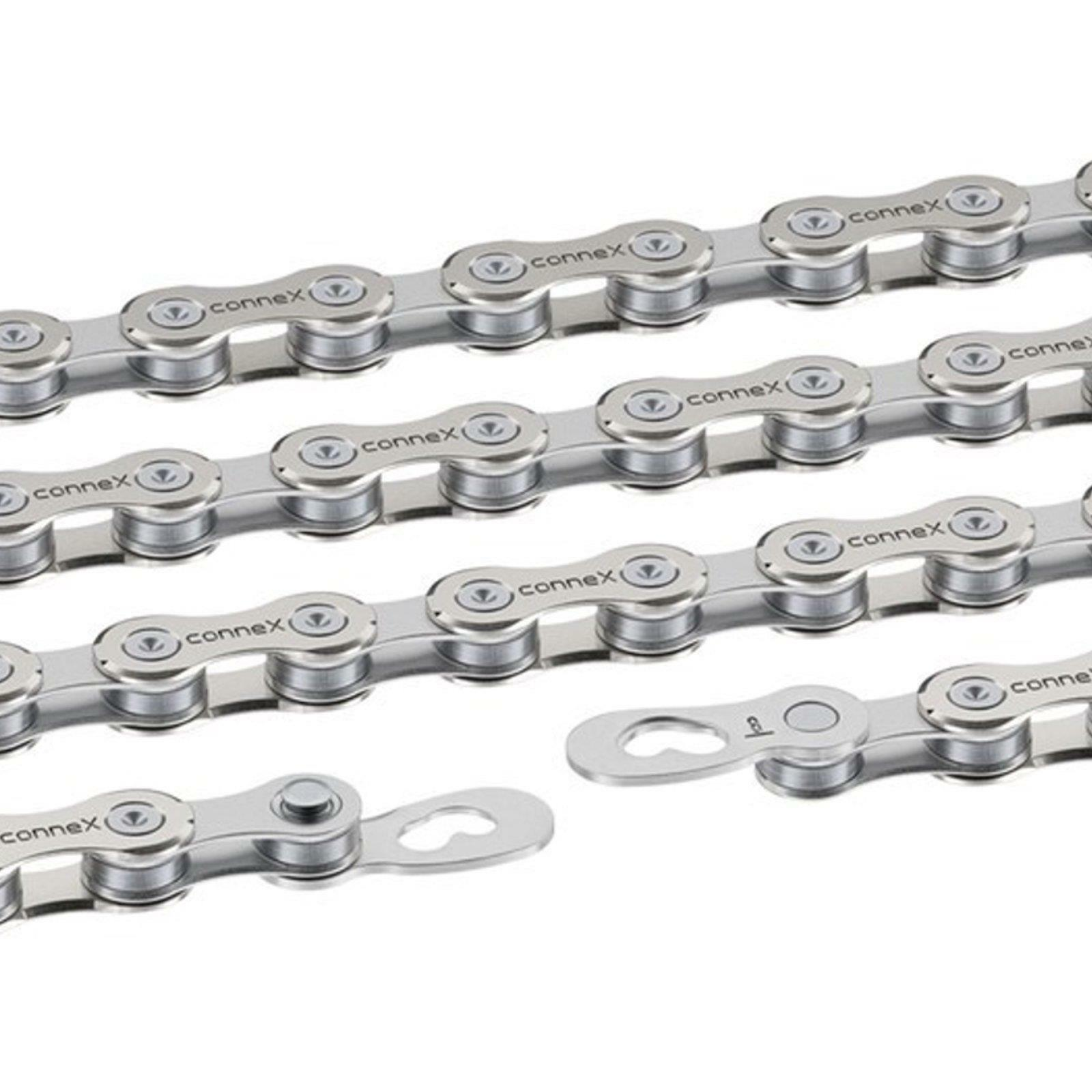 Connex 8sx catena di bicicletta circuito in acciaio inox catena 114 anelli 12 x 332 7,2mm
