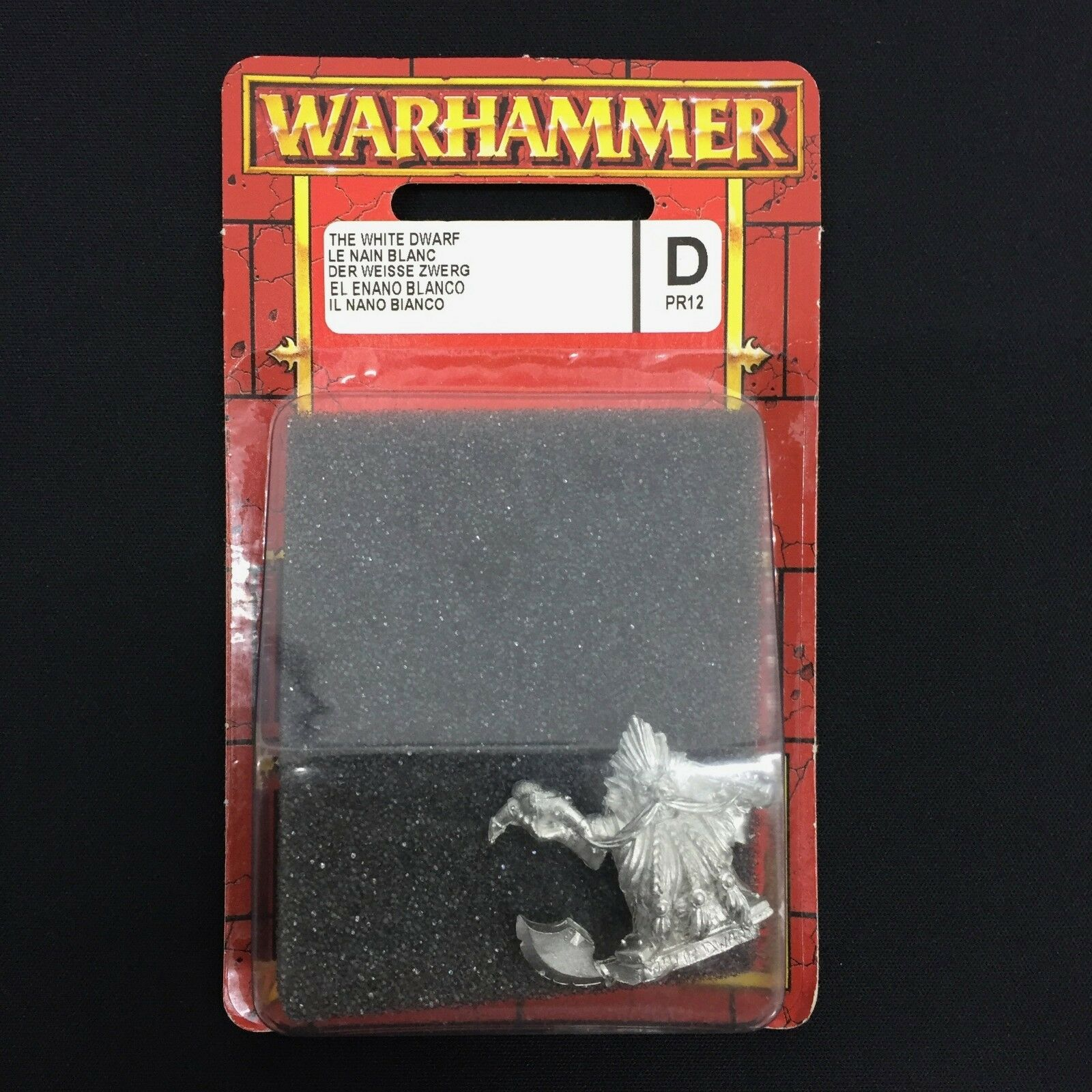 WARHAMMER AGE OF SIGMAR THE WHITE DWARF MINIATURE LIMITED ED METAL BLISTER OOP