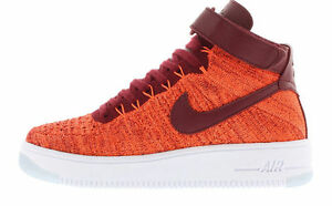 dfd323655d3b3 NIKE AF1 FLYKNIT AIR FORCE 1 WOMEN S SHOES TOTAL CRIMSON TEAM RED ...