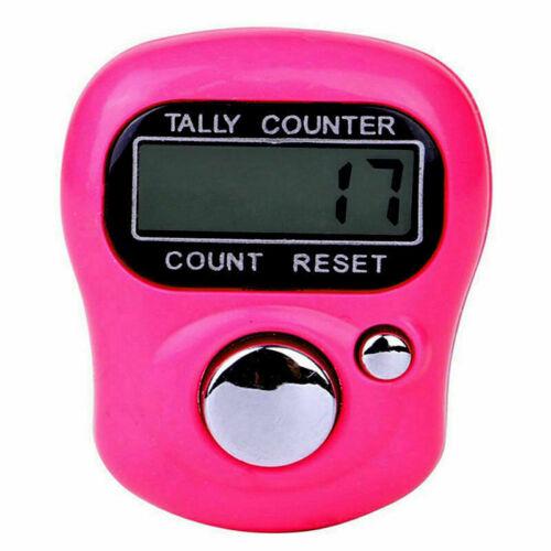Mini LCD Elektronische Digital Tally Counter Hand Ring Finger LED-Licht Counter