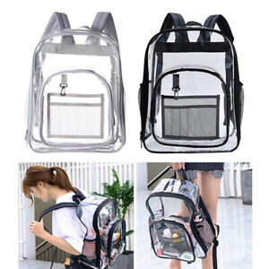 2 X See-through Waterproof Transparent Bag with See-through Backpack