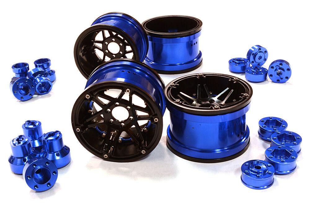 C26523blu  Integy 6S ruedas w Multi Adapters for Most 2.2 Scale Crawler  qualità di prima classe