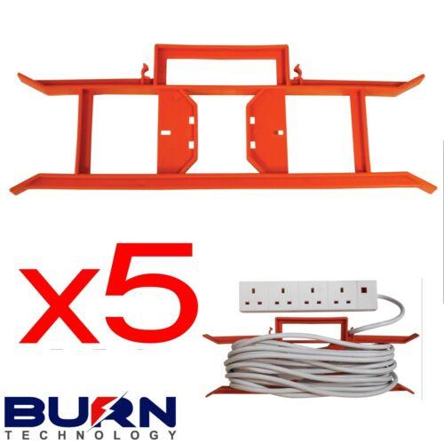 5 x Fil de Câble Tidy Bobines H Cadre Extension Puissance plomb Transporteur Support De Jardin