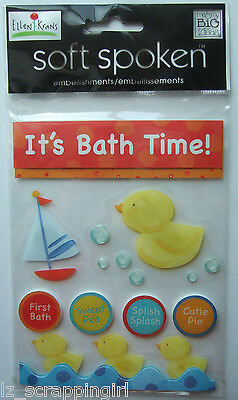~IT'S BATH TIME~ Soft Spoken Dimensional Embellishment Stickers; Children, Baby