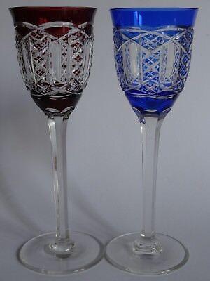 Motivado 2 Anciens Verres A Vin Du Rhin Roemer Couleur En Cristal Art Deco Ht 21 Cm MáS Descuentos Sorpresas