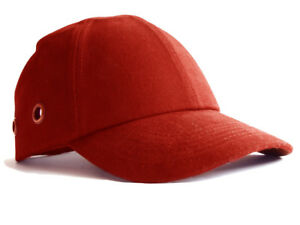 83afc19b63f21 Safety Baseball Cap Hard Hat Bump Cap Red Vented Velcro Fastening ...