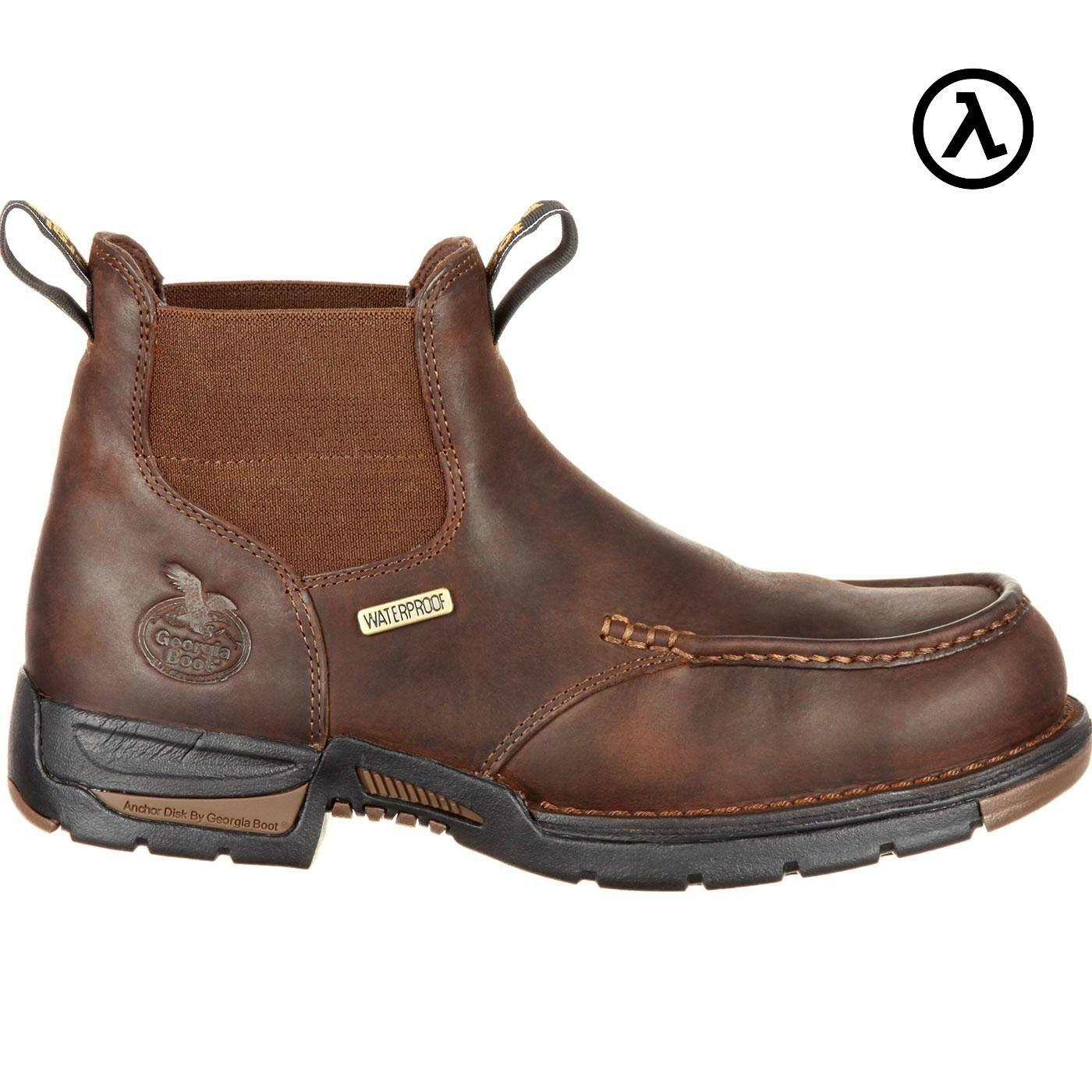GEORGIA bota Atenas Chelsea Impermeable botas De Trabajo GB00156  todos Los Tamaños-Nuevo