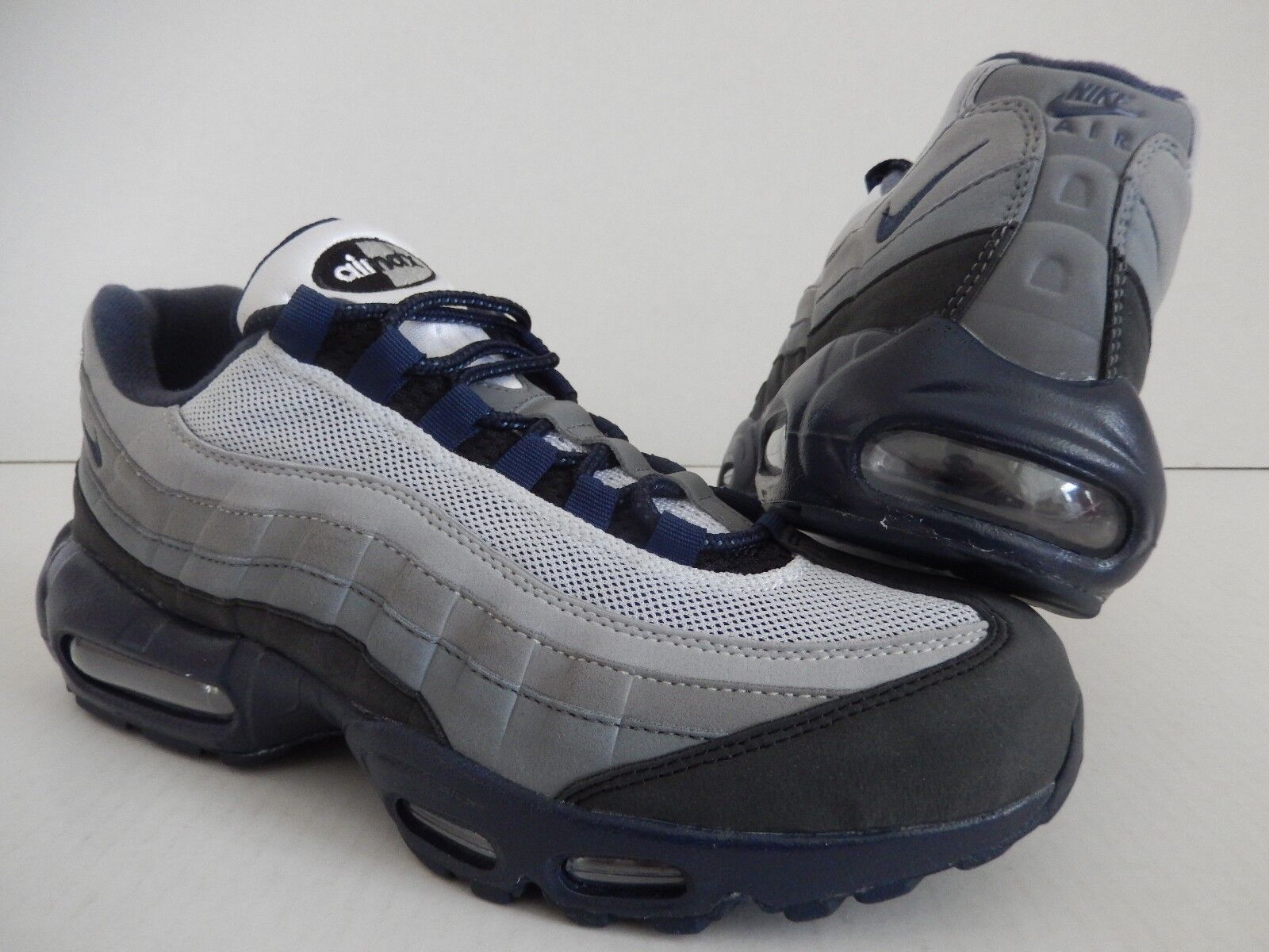 Nike Max 95 ID gris-Azul Marca 10 Parker HTM Talla 10 Marca para mujer hombre Talla 8.5 495d4a