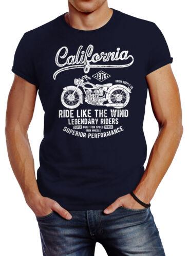 Herren T-Shirt California Motorbike Slim Fit Neverless®