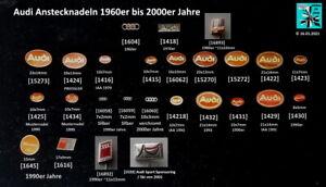 Audi-historische-Abzeichen-Anstecknadeln-1960er-bis-2000er-Jahre-AUSSUCHEN