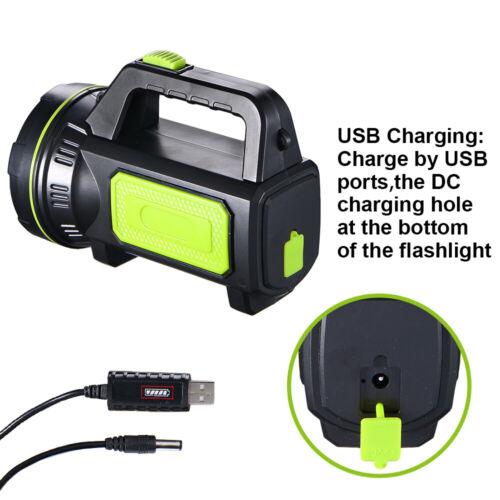 Quality Searchlight Handheld Portable Spotlight USB Rechargeable Flashlight Hot