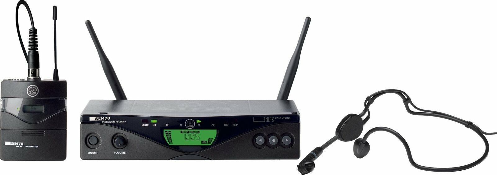 Funkmikrofonset mit Headsetmikrofon AKG WMS 470 Sportset B1 (650-680 MHz)